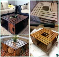 amusing pallet furniture plans free simple wooden crate coffee table wall