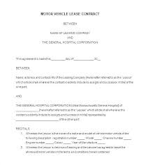 Sale Of Car Contract Car Lease Agreement Template Unique Bill Sale Payment Best Doc
