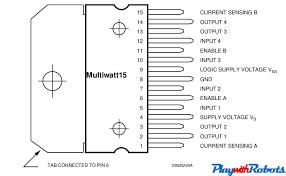 dc motor driver circuits l298 pin configuration