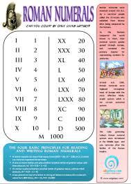 Roman Numerals Printable Chart Roman Numerals Classroom Posters Charts Edgalaxy
