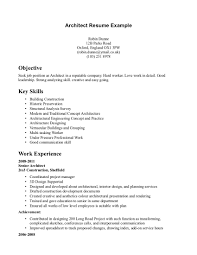 Architecture Resume Skills Architecture Resume Sample Architect