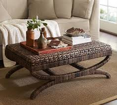 ottoman table wicker coffee table table