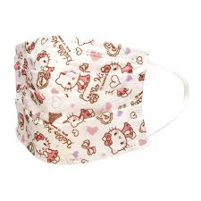 ten pieces of o kitty sanrio influenza cold meres prevention for the woman for the nonwoven fabric child mask three levels structure nonwoven fabric