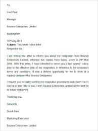 Writing Two Weeks Notice Letter Template In Chinese Professional Two Week Notice Writing A 2
