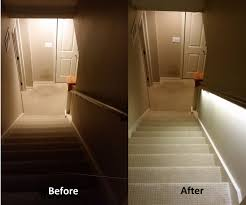 basement stairwell lighting. stair lighting solution with led strips 4 steps pictures basement stairwell