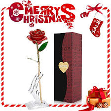 24k gold rose flower gold foil artificial forever rose with transpa stand gift box