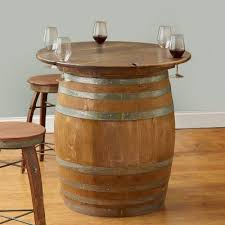 Image Hand Crafted Finished Full Wine Barrel With Table Top Wee Shack 135 Wine Barrel Furniture Ideas You Can Diy Or Buy photos