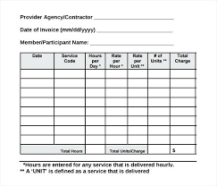 Time Sheet Doc Contractor Invoice Template Invoice Templates Samples Doc