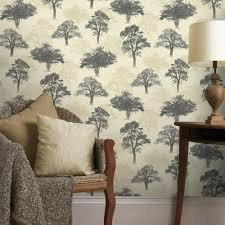 Tree Design Wallpaper Living Room New Holden Decor Woodland Forest Pattern Tree Nature Glitter Motif