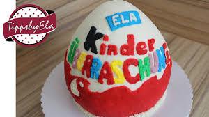 Egg Surprise Cake Design Kinder Surprise Egg Cake With Whipped Cream How To No Fondant En Subtitle