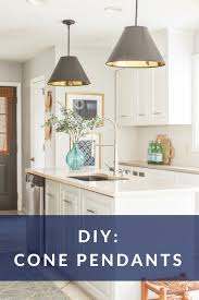 Lighting diy Rustic Diy Cone Pendant Light Designing Vibes Diy Cone Pendant Lights Cheap And Easy To Make