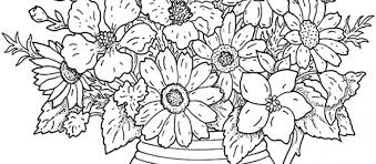 Hard Flower Coloring Pages Printable Archives The Weekly World