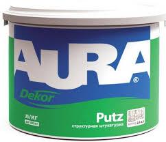 <b>Штукатурка Aura Putz Decor</b> шуба структурная зерно 1.5мм 25кг ...