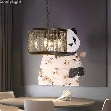 modern chrome pendant lamp led hall crystal chandelier pendent lights kitchen res living room candle light degin lampshade home lights yellow pendant