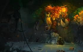wallpaper lantern art creeps trees dota 2 treant protector