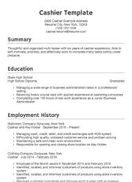 Resumes Samples For Customer Service Cashier Resume Sample Professional Examples Resume Com