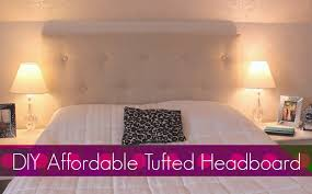 Cover Headboard With Fabric Diy Easy Affordable Tufted Headboard Bedroom Decor Youtube