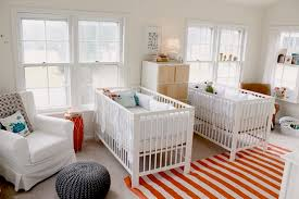 baby room ideas for twins. Twins Baby Nusery With Modern Cribs In White Room Ideas For N