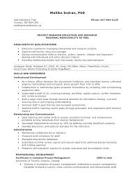 Sample Resume For Project Manager Position Technical Project Manager