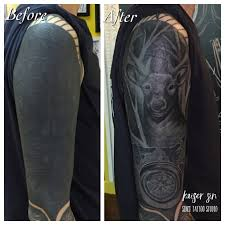 Tattoo Uploaded By Kaiser Sin Cover Up Workfrom Solid Black Piece
