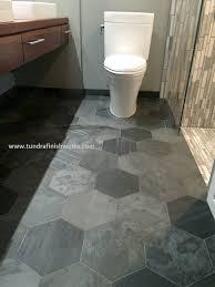 hexagon floor tile on choosing bathroom black