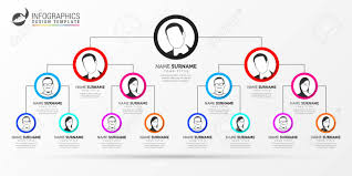 Infographic Design Template Creative Organization Chart Can