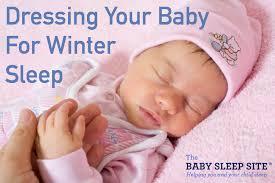 dressing baby for winter sleep
