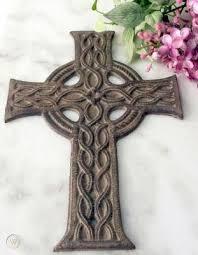 irish celtic cross cast iron wall