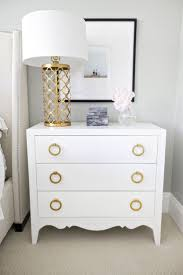 White U0026 Gold Nightstand And Lamp Great Paint Idea With Old Dresseradd New  Hardware Small White Dresser R89
