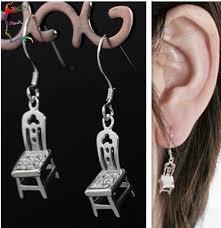 chair earrings. new arrival cartoon chair drop earring with rhinestone fashion crystal alloy metal silver novelty wholesale free ship earrings aliexpress.com