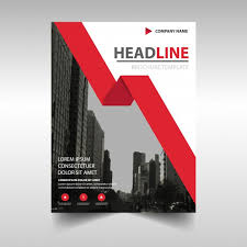 Brochure Templates For It Company Corporate Brochure Template With A Red Geometric Ribbon