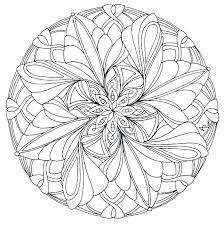 advanced mandala coloring pages printable page