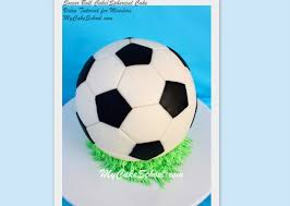 How To Decorate A Soccer Ball Cake How to Make a Round Spherical Cake and Soccer Ball My Cake School 87