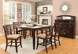 cherry counter height piece: homelegance keegan counter height dining set neutral tone fabric cherry