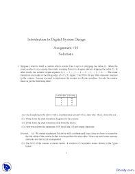 Digital Systems Design Using Verilog Solution Combinational Logic Introduction To Digital Systems Desig