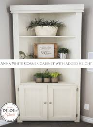 corner piece of furniture. I Searched And For A Piece Of Furniture That Would Work, Then Found Plans Corner Cabinet, From Anna White. Never Fails!