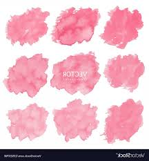 set of red watercolor background brush stroke vector