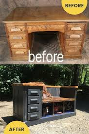 how to repurpose furniture. Delighful Furniture Repurposed Desk To Upcycled Bench Idea On How To Repurpose Furniture