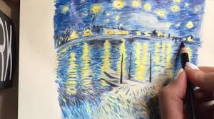 van gogh s the starry night over the rhone drawing