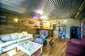 corrugated steel ceiling corrugated metal ceiling rustic beams and stone corrugated