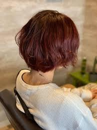 チェリー冬に人気のカラーショートヘアにピッタリatelierameri