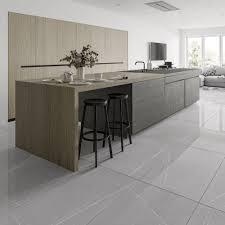 Light Grey Floor Tiles Pedra Light Grey Vein Gloss