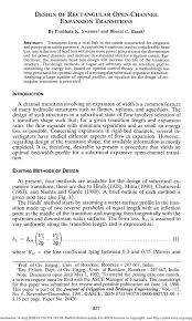 Open Channel Design Pdf Design Of Rectangular Open Channel Expansion Transitions