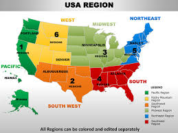 Us Map Editable In Powerpoint Usa Midwest Region Country Editable Powerpoint Maps With States And C