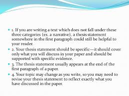 Writing A Thesis Statement Tips And Examples For Writing Thesis Statements Ppt Video Online