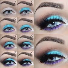 makeup ideas for prom sky blue and purple makeup with uniqueness these are the