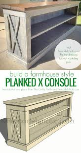 How to Build a Farmhouse Style TV Console or Sideboard designed by The  Gritty Porch, plans by Remodelaholic