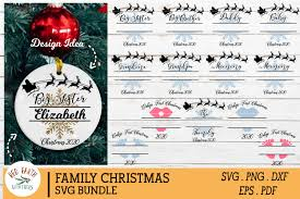 This exclusively designed svg cut file is for yearly, lifetime and extended license members only! Family Christmas Monogram Frames Bundle Graphic By Redearth And Gumtrees Creative Fabrica