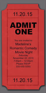 Printable Movie Night Tickets Download Them Or Print