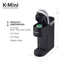 Find a variety of coffee makers, coffee pots and coffee machines at targets. Keurig K Mini Coffee Maker Single Serve K Cup Pod Coffee Brewer 6 To 12 Oz Brew Sizes Black Priparax Com